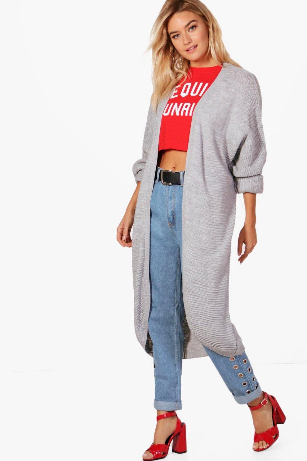 Lauren Maxi Oversized Batwing Cardigan | Boohoo