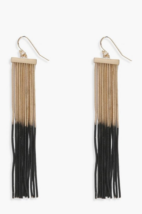 Katie Ombre Chain Tassel Earrings