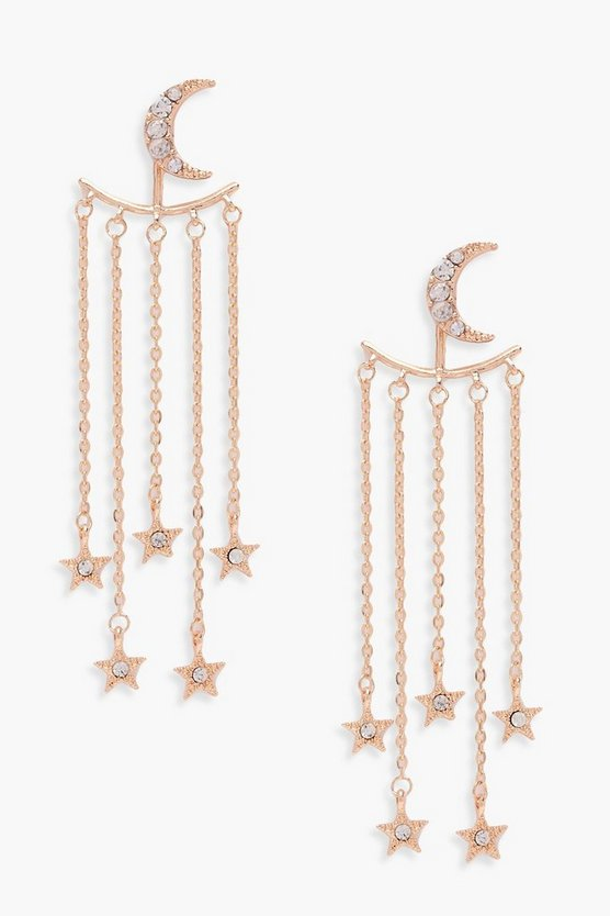 Paige Moon And Stars Statement Earings