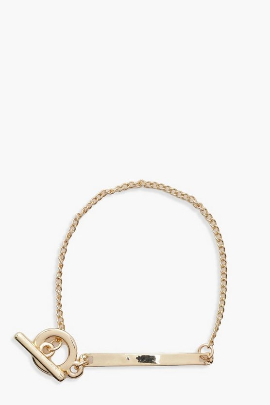 Molly Circle And Bar Detail Chain Bracelet