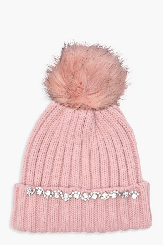 Mia Diamante Trim Beanie