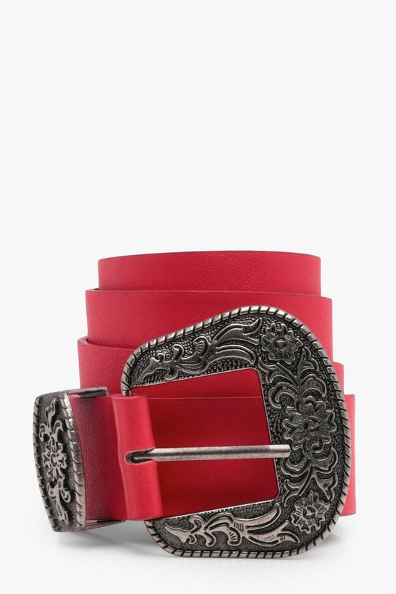 Julia Colour Western Buckle Belt