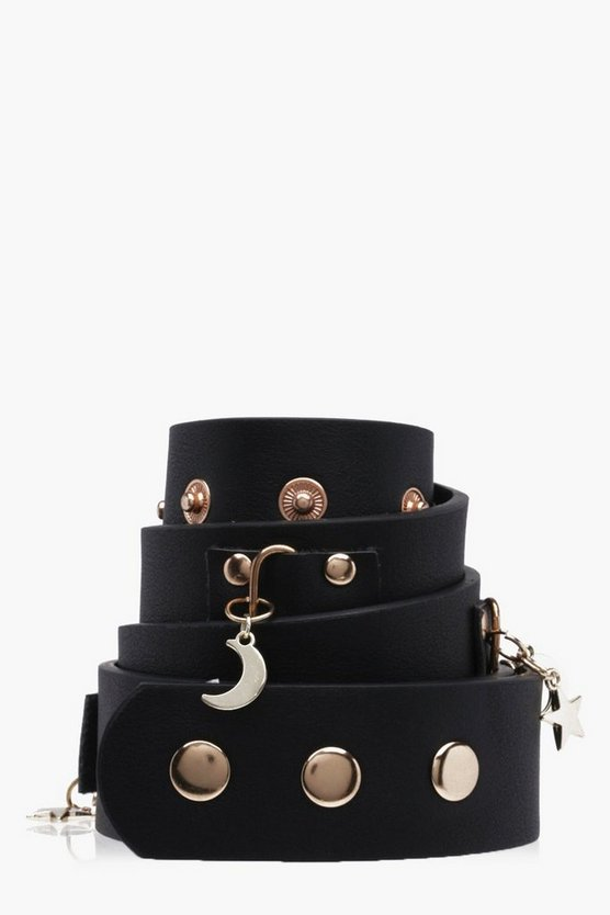 Lia Star & Moon Charm Waist Belt