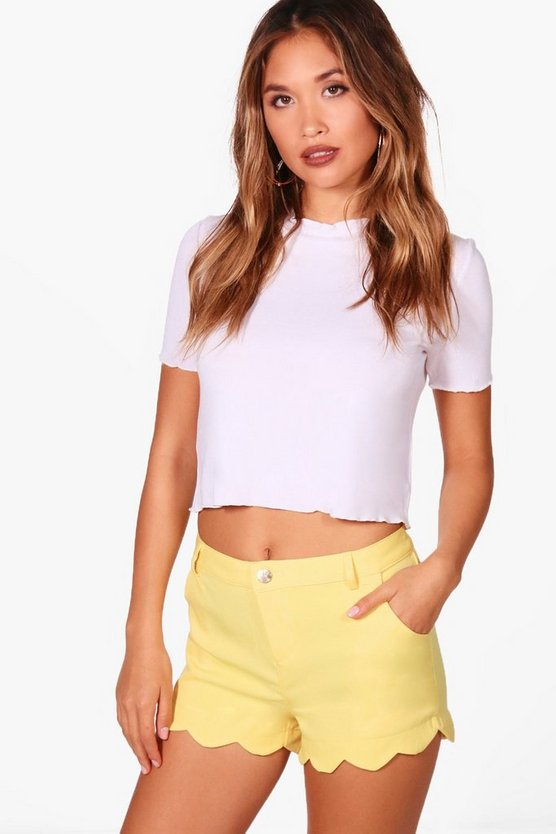Beth Scallop Detail Shorts
