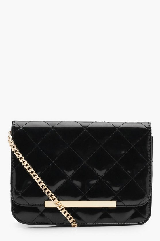 Rowan Quilted Patent Cross Body Bag