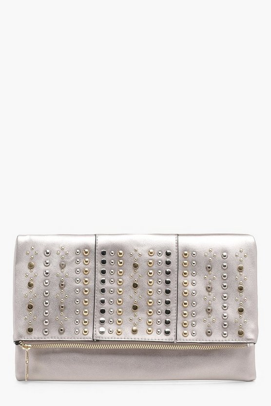 Lindsay Stud Flap Clutch Bag