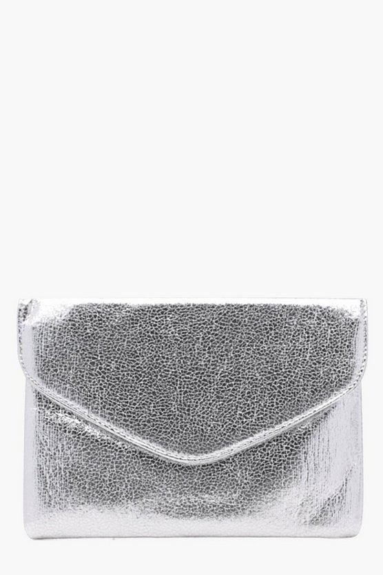 Alison Metallic Envelope Clutch Bag