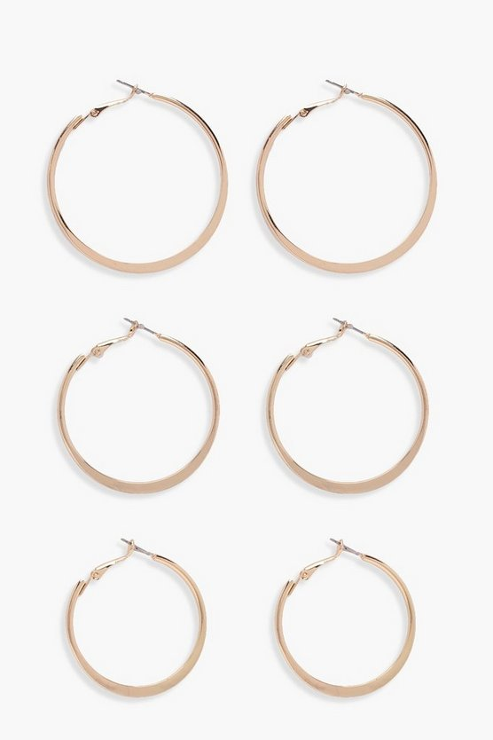 Liv Mixed Size Flat Hoops 3 Pack