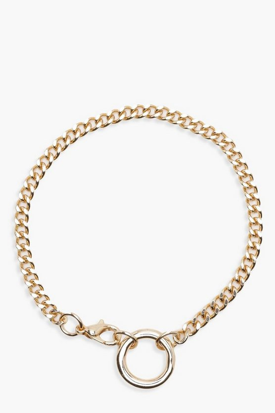 Anna Ring Detail Chain Bracelet