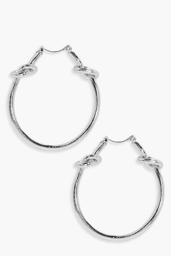Lexi Knot Detail Hoop Earrings