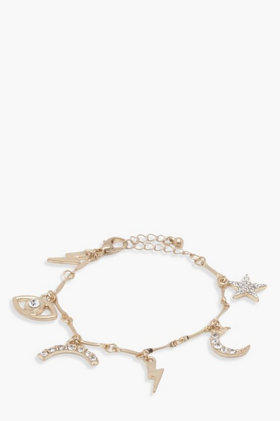 Robyn Rainbow Star Eye Charm Bracelet
