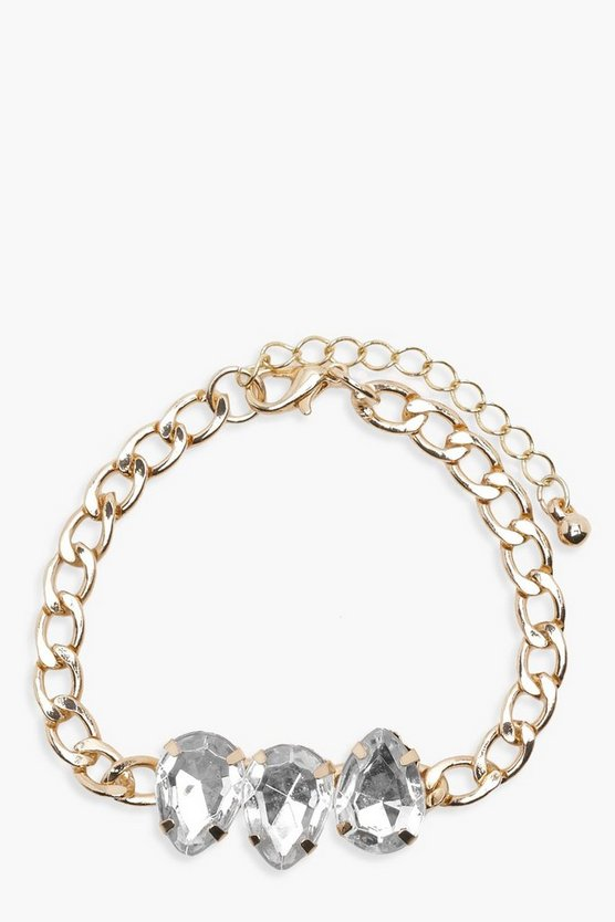 Diamante Gem Trim Chain Bracelet