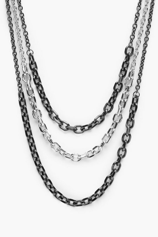 Sarah Mixed Layered Chain Necklace