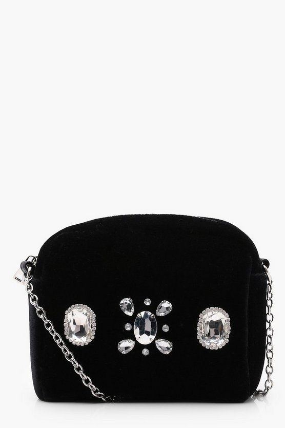 Millie Velvet Embellished Cross Body
