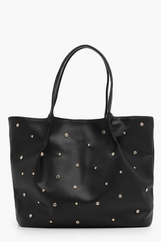 Agatha Diamante and Stud Tote Bag