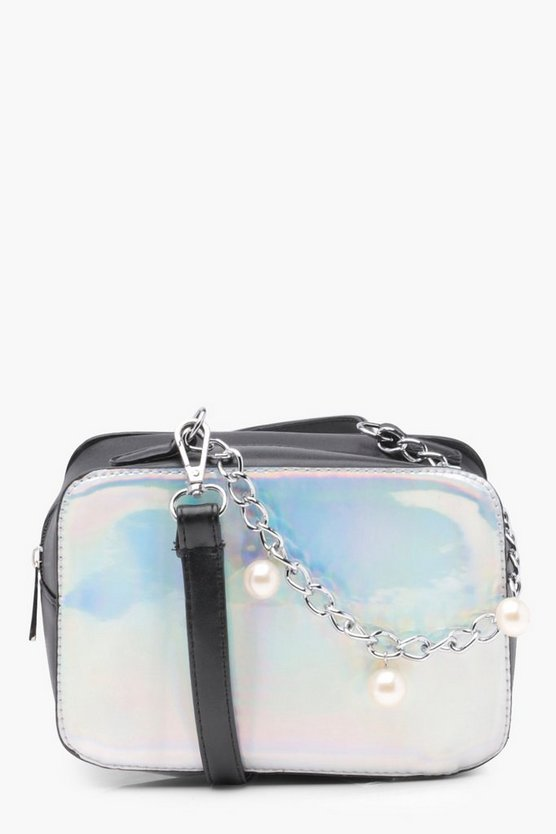 Vi Holographic Contrast Box Cross Body Bag