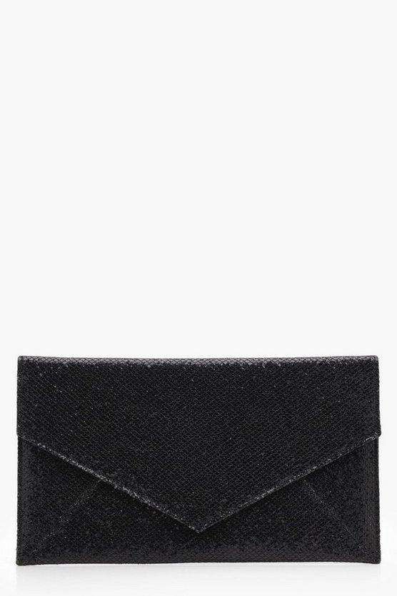 Rendall Glitter Envelope Panel Clutch