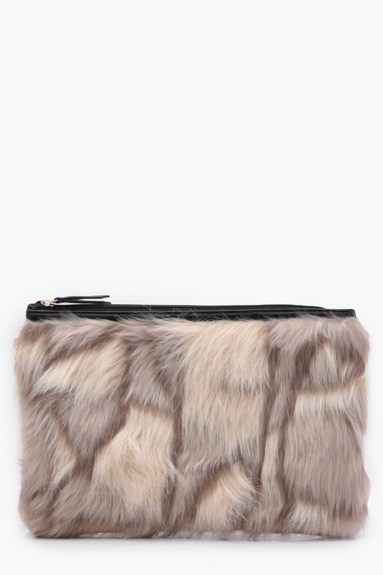 Feliciity Multi Faux Fur Clutch