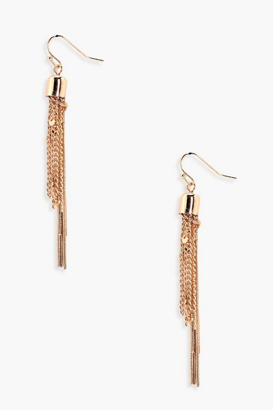 Elsa Chain Tassel Earrings