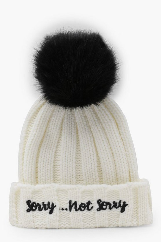 Sorry Not Sorry Slogan Beanie