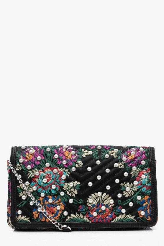 Rosa Printed Jacquard Cross Body Bag
