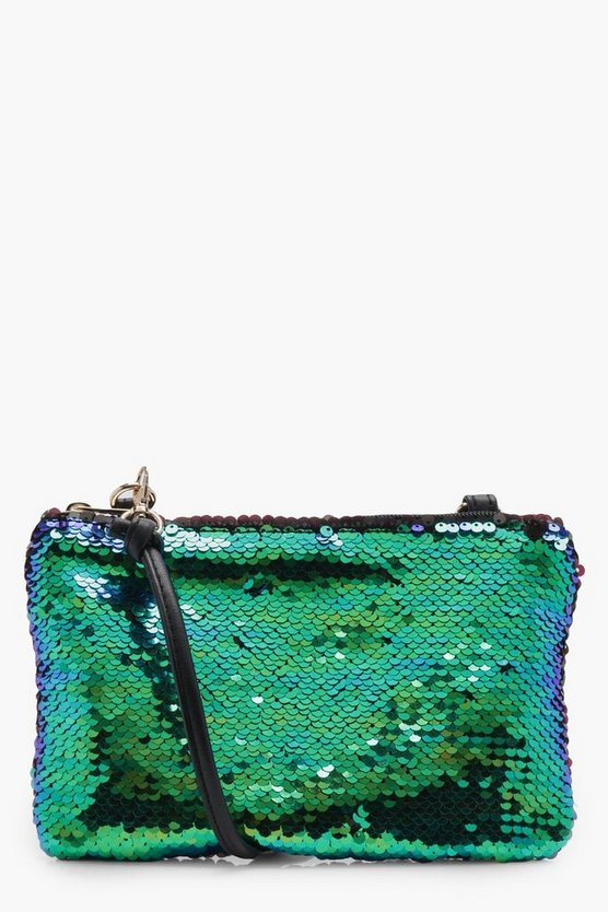 Kimberley Mermaid Sequin Cross Body Bag
