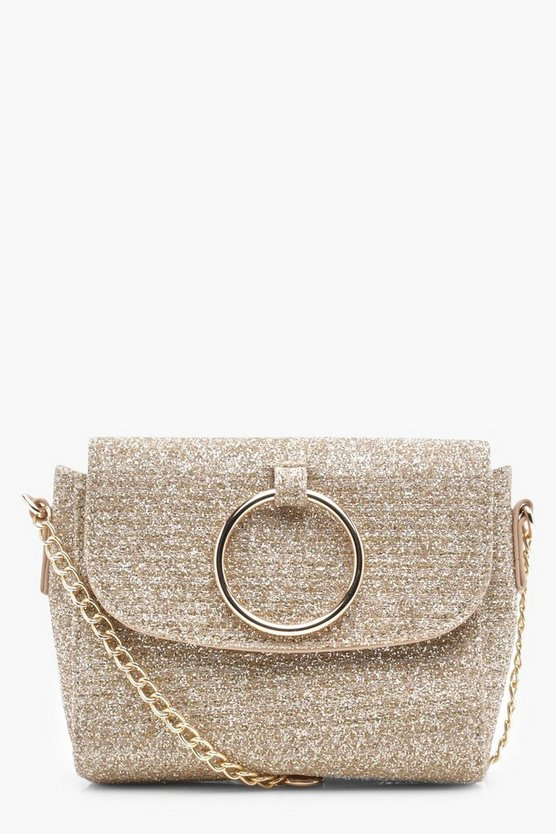 Antoinette O Ring Metallic Cross Body Bag