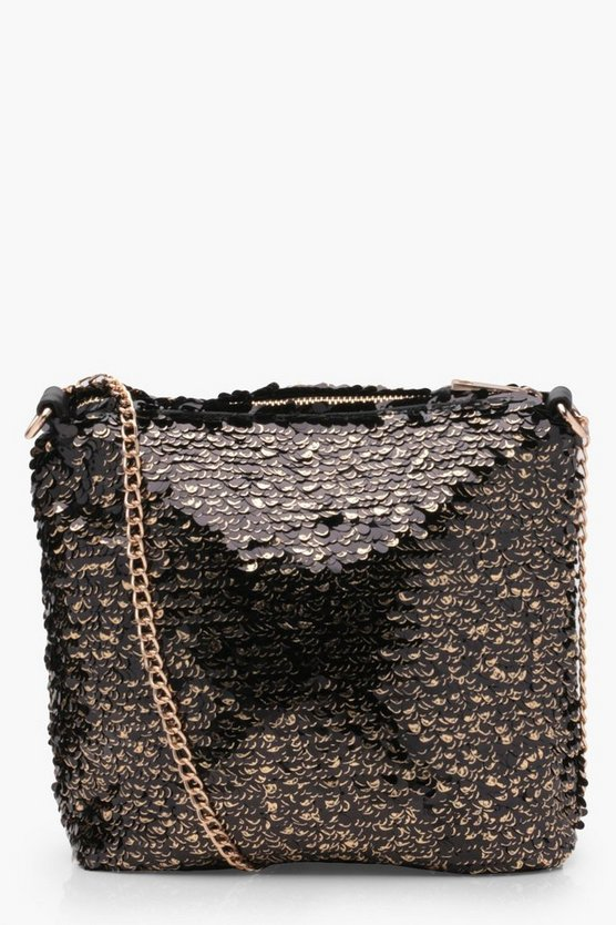 Jacqueline Sequin Bucket Bag