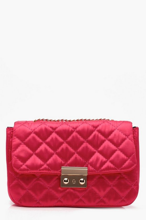 Jen Quilted Chain Strap Cross Body Bag