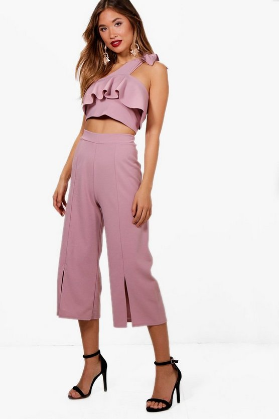 Liz Frill Top and Split Front Culotte Co-ord Set