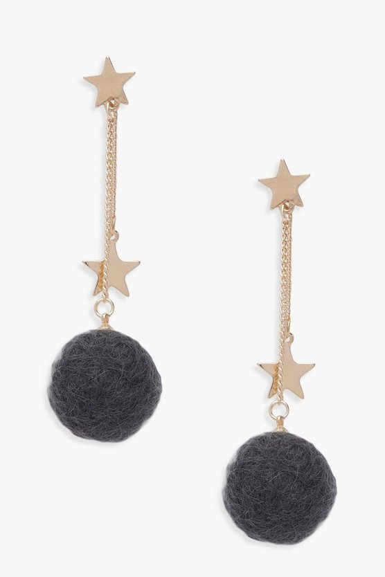 Harriet Star And Pom Pom Earrings