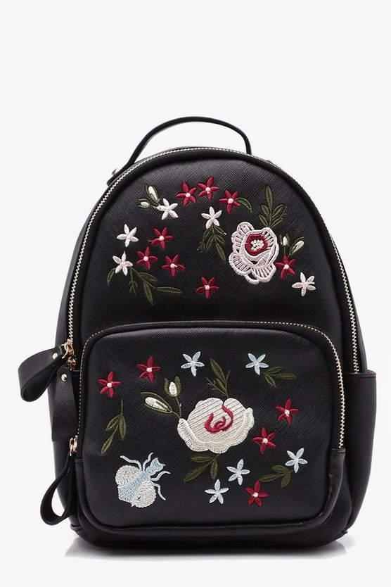 Ana Embroidered Zip Around Rucksack
