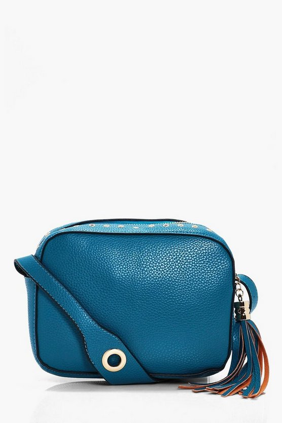 Leila Eyelet Detail Camera Cross Body Bag