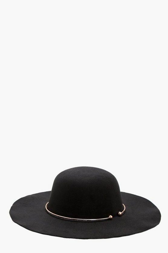 Olivia Ring Trim Floppy Hat