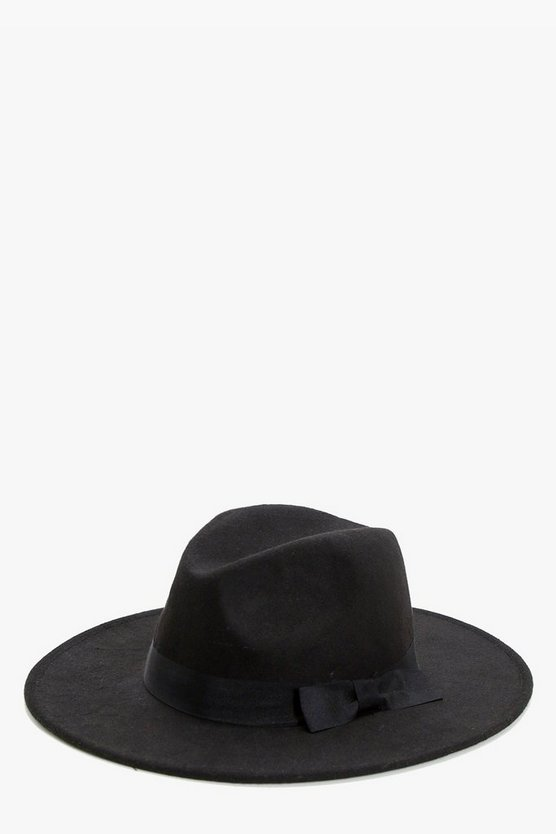 Tasha Ribbon Trim Fedora