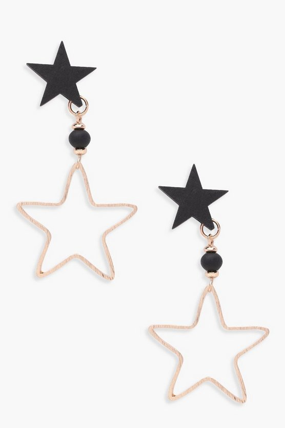 Rosie Double Star Stud Drop Earrings