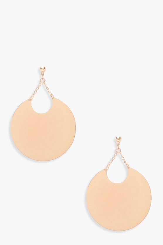 Georgia Oversize Plate Hoop Earrings
