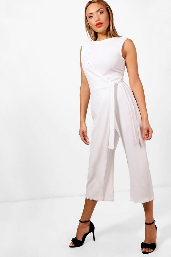 Harley Wrap Front Culotte Jumpsuit