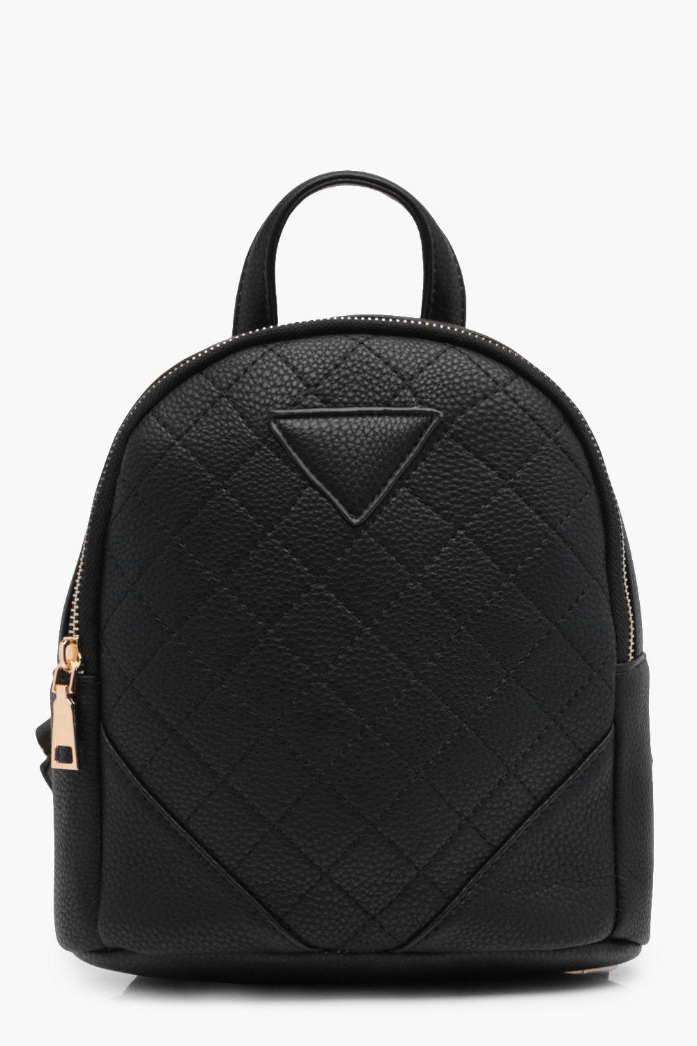 Quilted Mini Rucksack - black - Nadine Quilted Min