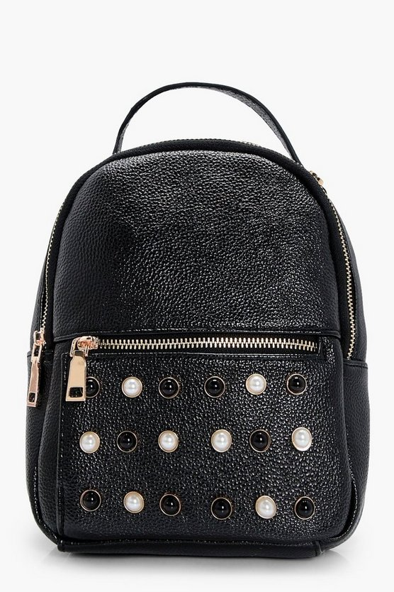 Holly Pearl Stud Detail Rucksack