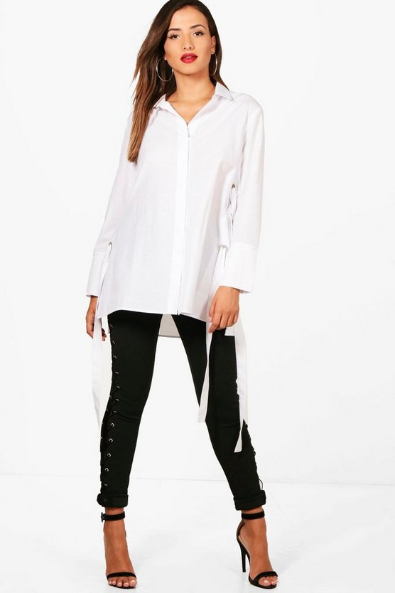 Jennifer Eyelet Lace Up Shirt