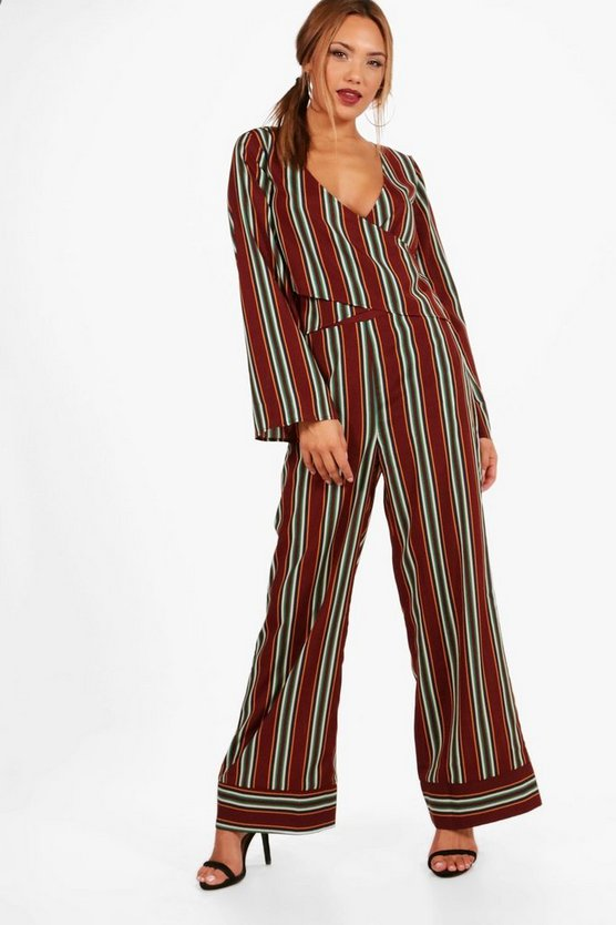Hannah Wide Leg Stripe Trouser