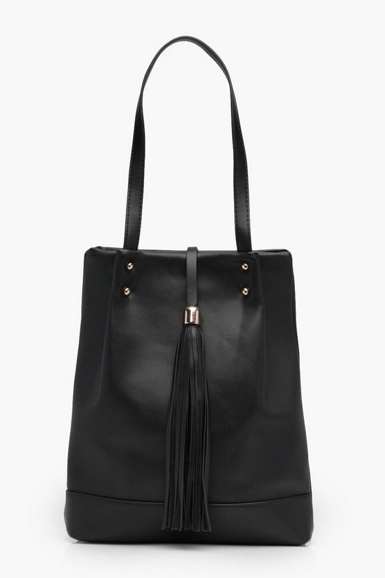 Katy Tassel Detail Shopper Bag