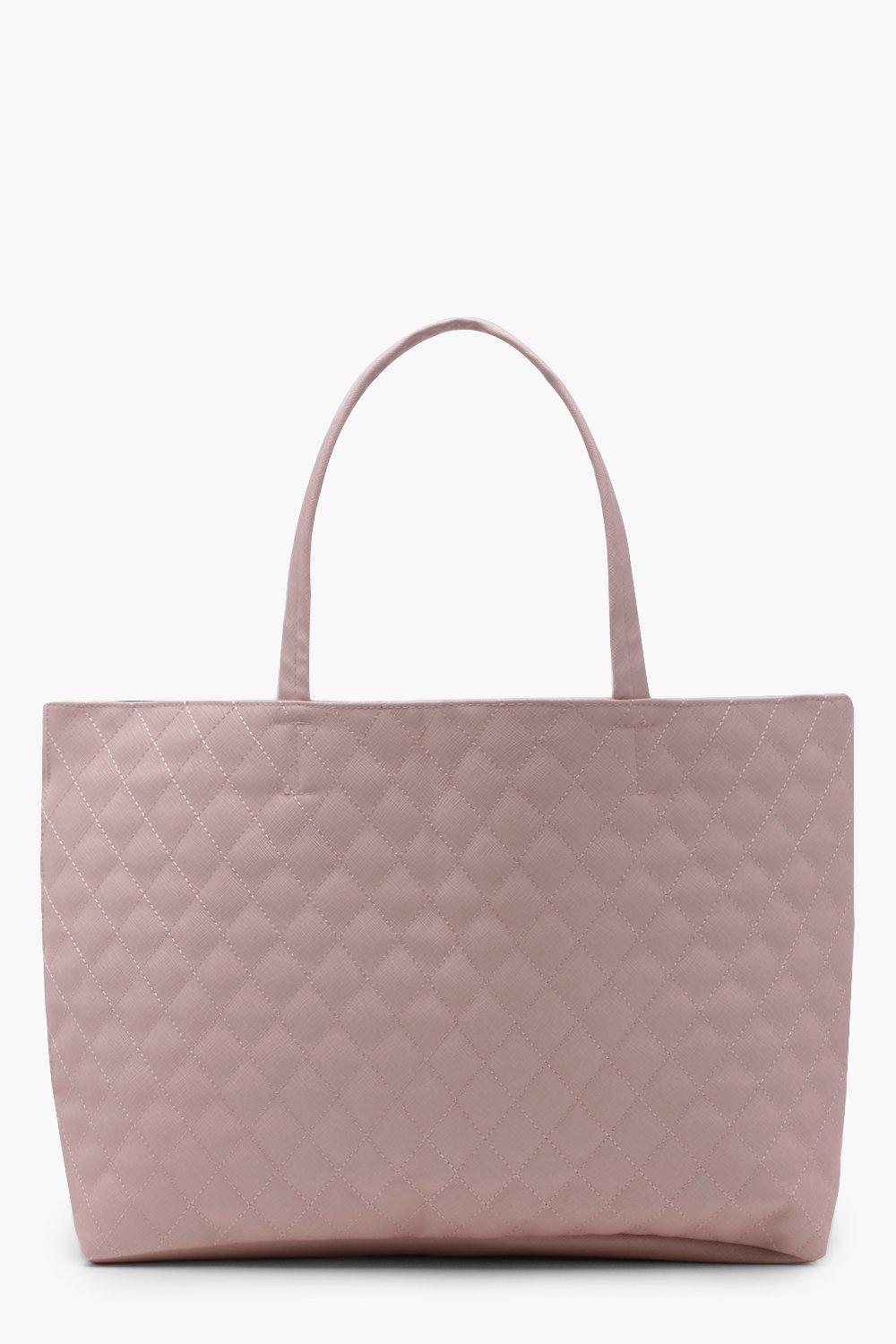 Quilted Shopper Bag - blush - Alicia Quilted Shopp