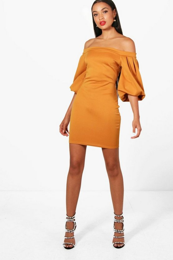 Samara Off the Shoulder Bodycon Dress