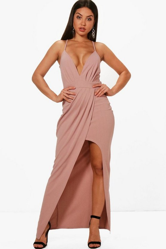 Melissa Strappy Wrap Detail Maxi Dress