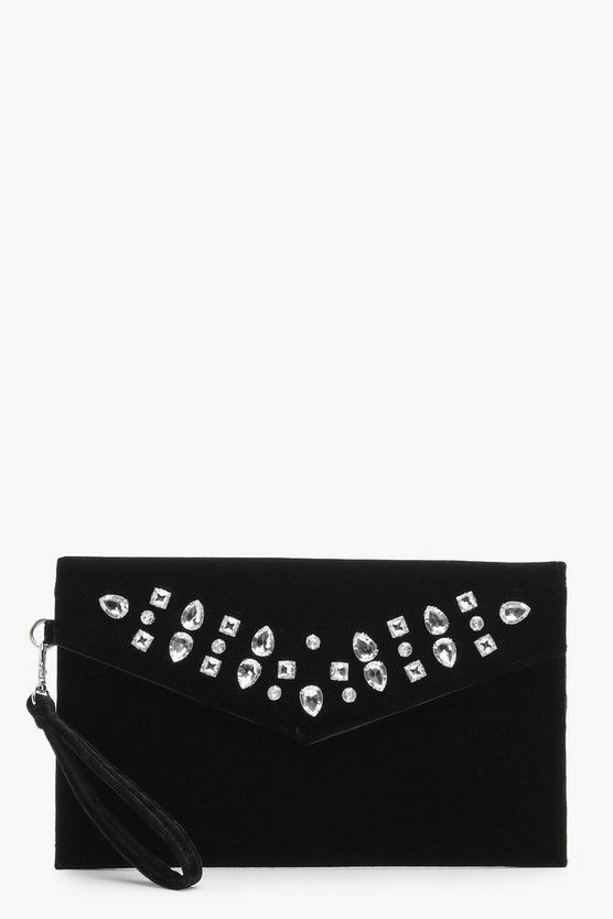 Millie Jewel Embellished Clutch Bag