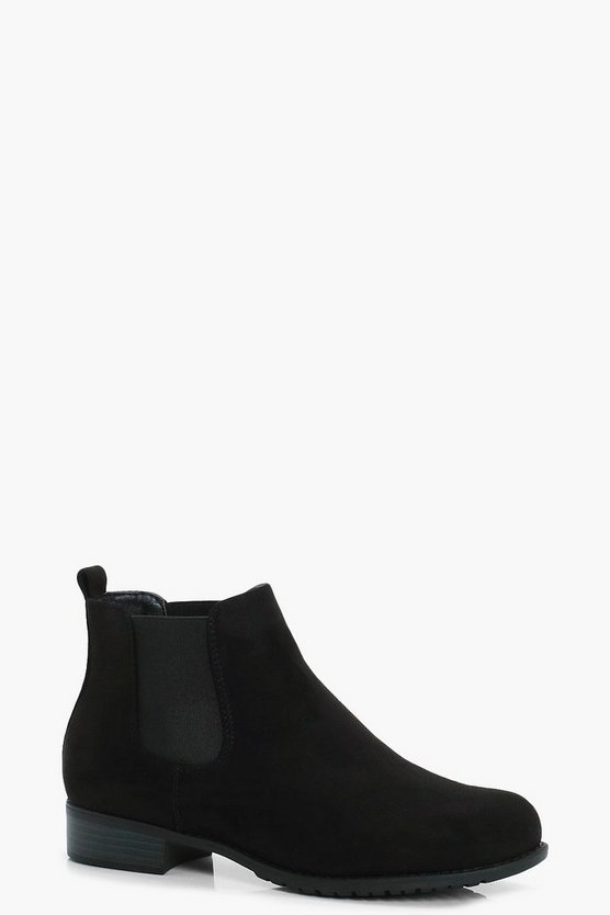 Connie Suedette Pull On Chelsea Boots