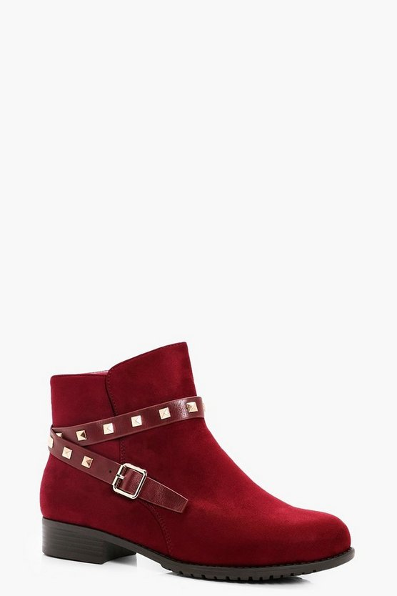 Sadie Stud Strap Ankle Chelsea Boots