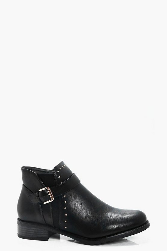 Georgina Pin Stud Ankle Chelsea Boot